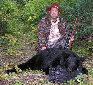 Canadian bear hunting at Peffley's Camp